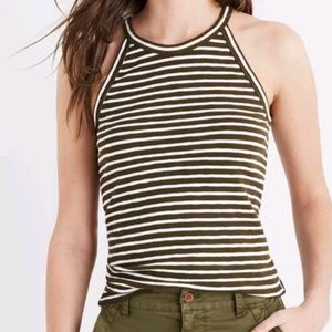 Madewell olive green Time off high neck tank